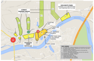 Run the River Race / Parking Map