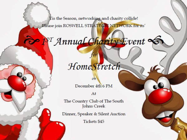 Roswell Strategic Network's First Annual Charity Event for HomeStretch